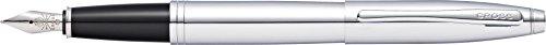 Cross Calais - Pluma estilográfica con grosor medio, color cromo puro