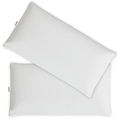 TextilECO Almohada Algodon y Fibra Hueca Microfibra. Tacto Pluma. Firmeza Media. Antiacaros Hipoalergenica Comoda Transpirable Adaptable Lavable. Sweetcotton. 105x40 cm