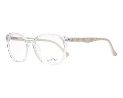 Calvin Klein Brille (CK-5858 008) Acetate Kunststoff kristall kristall - matt weiß