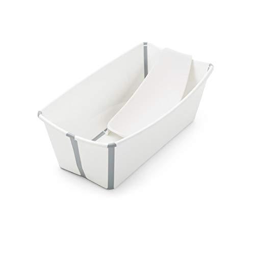 Stokke Flexi Bath Heat Sensitive Plug Baby Bath with Newborn Support, White