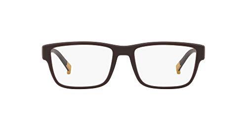 Arnette District VII - Gafas graduadas para hombre, color marrón mate/lente de demostración, 54 mm