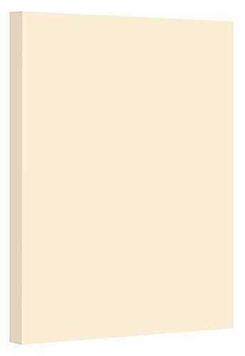 Cream Pastel Color Card Stock Paper, 67lb Cover Medium Weight Cardstock, for Arts & Crafts, Coloring, Announcements, Stationary Printing at School, Office, Home | 8.5 x 11 | 50 Sheets Per Pack