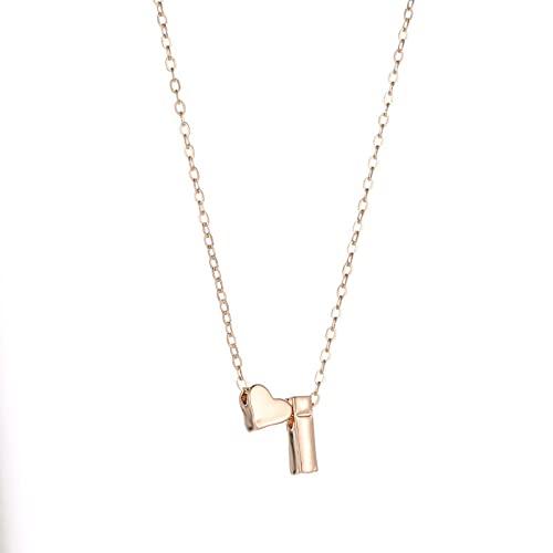 SPS Collar Inicial Oro Plata Color Letra Nombre Gargantilla Collar para Mujer Colgante joyería Regalo