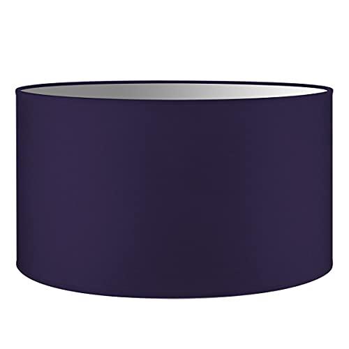 Abat-jour rond | Bling | Abat-jour en tissu | Abat-jour en coton | Pour E27 douille | diamètre 40cm, hateur 22cm | Violet | Pour tous vos espaces intérieurs IP20 | Hors ampoules |