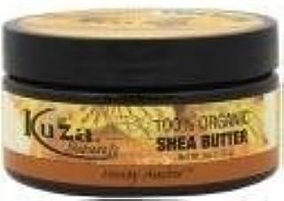 Kuza 100% Organic Shea Butter Skin, Hair, Scalp Nails- Honey Amber- 6 Oz