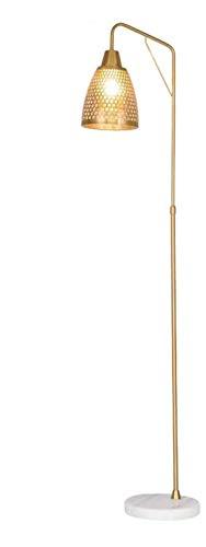 Lámpara De Pie Duradera Oro De Hierro Labrado Hollomoderno Sala De Estar Dormitorio Iluminación Iluminación Lámpara Decorativa Lámpara De Lectura Estéreo (Tamaño: 38 * 165 Cm) Tamaño: 38 * 165 Cm (Tam