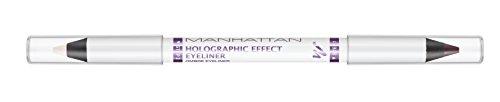 Manhattan Holographic Effekt Eyeliner, Farbe 003 Purple Prism, doppelseitiger, 1er Pack (1 x 1 g)