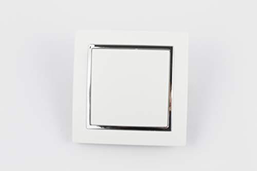 Interruptor de pared, interruptores conmutadores individuales, color blanco