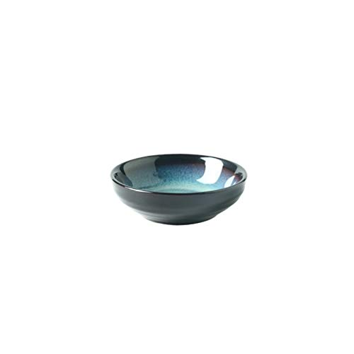 YINGYINGSM Plato de Cena Postre Creativo Plato de cerámica vidriada Azul vajilla Horno de tallarines de arroz Soup Bowl Filete Plato de Pescado Plato Cocina (Color : 3.5 Inch Dish)