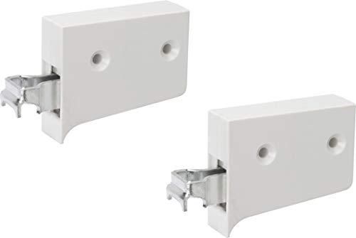 Metafranc Schrankaufhänger - 1 Paar (rechts & links) - weiß - 130 kg Tragkraft - Zum einfachen Aufhängen von Hängeschränken / Schrankhalterung / Schrankträger / Wandaufhängung / 350536