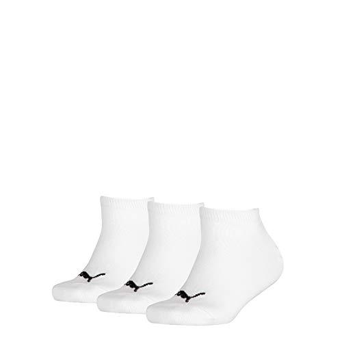 PUMA Invisible 3p Sport, Bianco (White 300), Unica (Taglia Produttore: 39/42) (Pacco da 3) Bambino