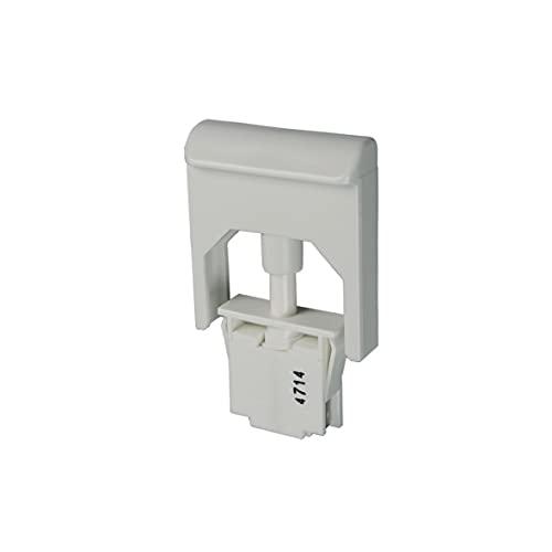 Liebherr 6060062 Tastenschalter Drucktastschalter Schaltelement Lampenschaltelement Tastschalter Schalter 1-fach fürs Licht Getränke Kühlschrank Kühlautomat Kühlgerät Kühlteil Kühlmöbel