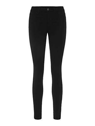 PIECES PCSKIN WEAR JEGGINGS BLACK/NOOS, Jeans Femme, Noir (Black), 42 (Taille fabricant: X-Large)