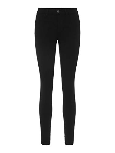 PIECES Female Jeans Mid Waist Skinny fit LBlack