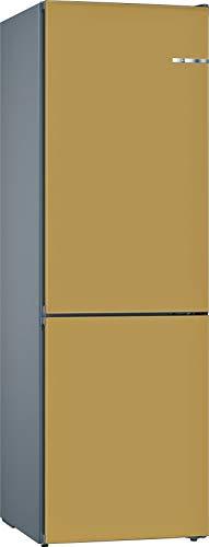 Bosch KVN39IXEA Serie 4 VarioStyle - Frigorífico independiente/A++ / 203 cm / 273 kWh/año/Puerta frontal intercambiable perlgold / 279 L / 87 L congelador/NoFrost/VitaFresh
