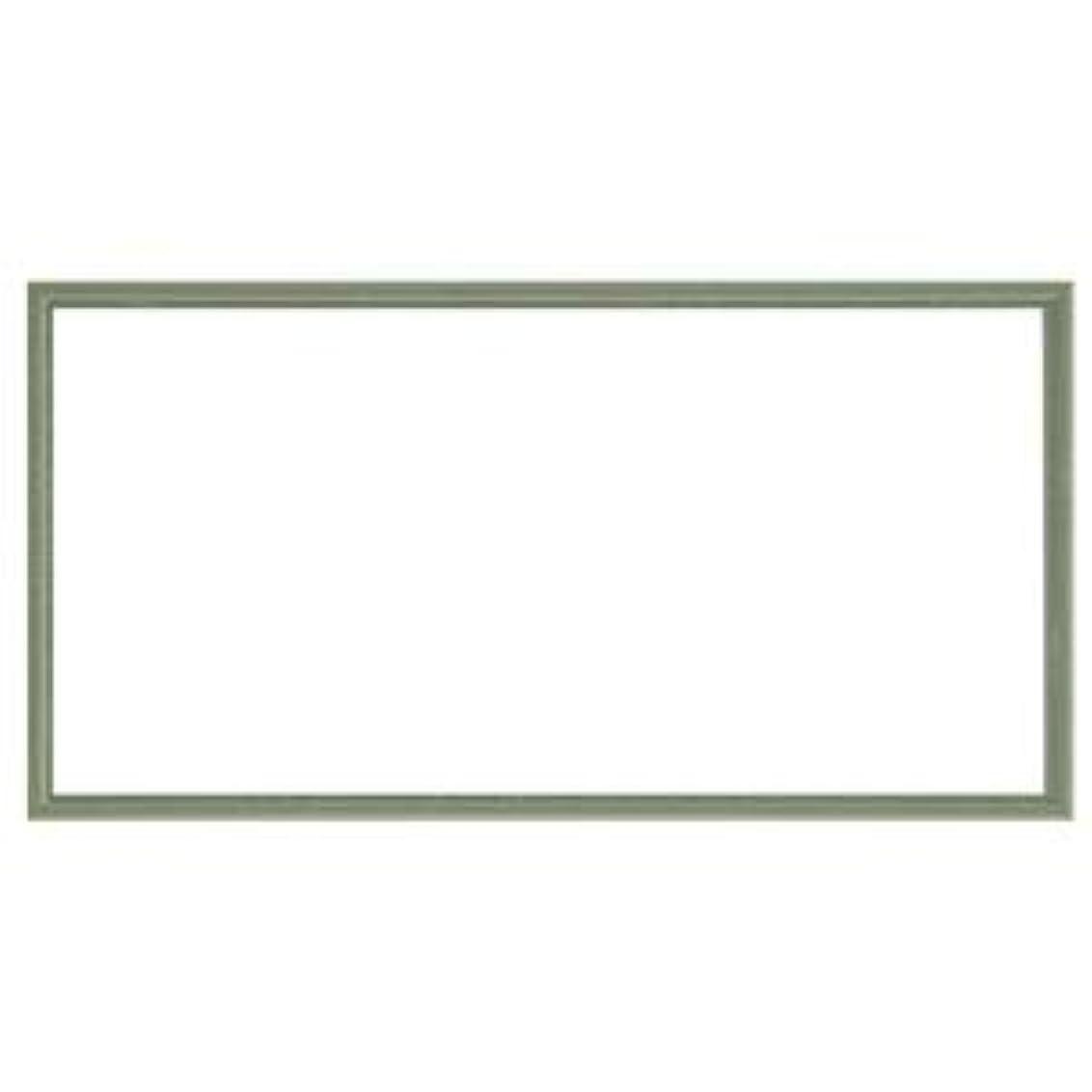 作り温度計鷹ナチュラル仕様 額縁/フレーム 【横長型 600×300 グリーン】 吊金具付き 木製