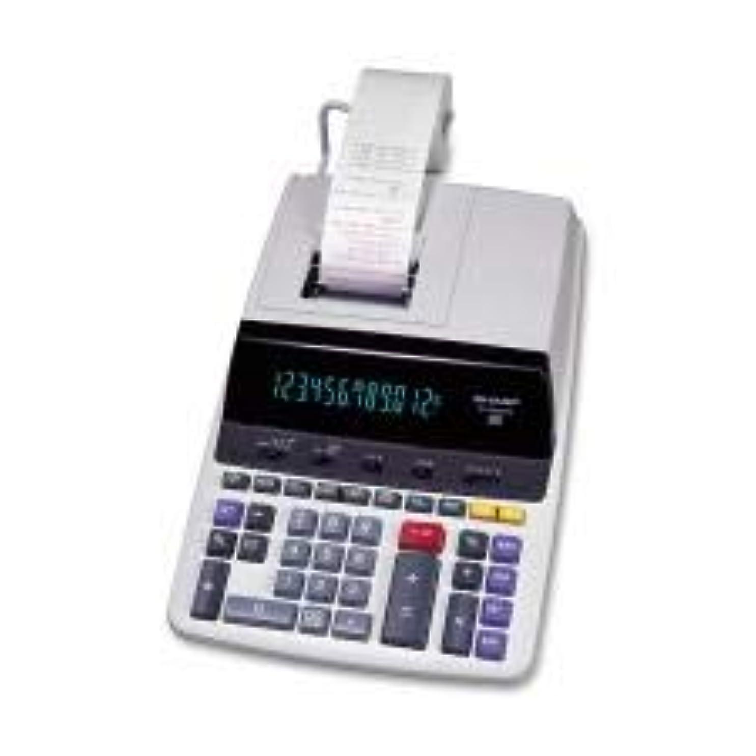 告発者山畝間シャープ EL2630PIII 12桁 商業用印刷電卓 12文字 蛍光 電源アダプター