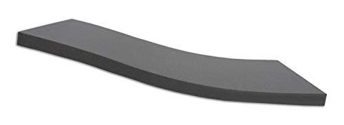 Dibapur ® Black: Orthopädische Kaltschaummatratze/Akustikschaumstoff - H2 - Auswahl: Ohne Bezug - Made in Germany (180x200x13 cm)