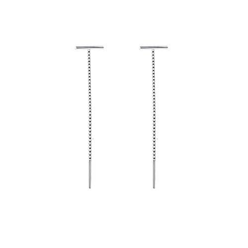 QIN Fashion Susu Pendientes Cadena de la Cadena para 2021 Larga Plata Plata Chen Wei, Arete Pendientes Colgantes en Forma de EUR 9cm