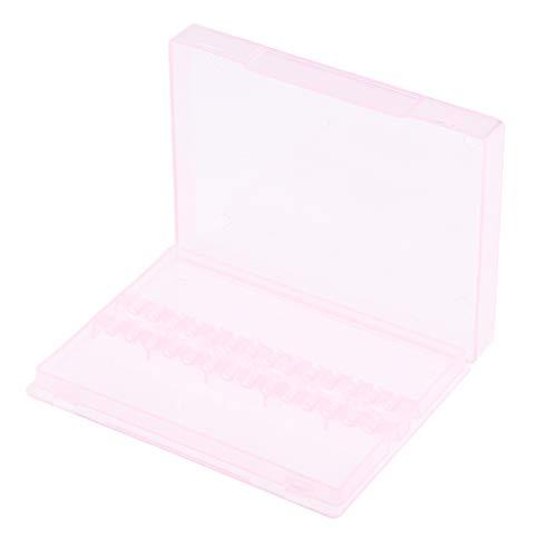Sharplace 14 Trous Boîte de Rangement Attachement des Embout de Ponceuse Organisateur Support de Foret Manucure en plastique - Rose 9,8 x 7cm