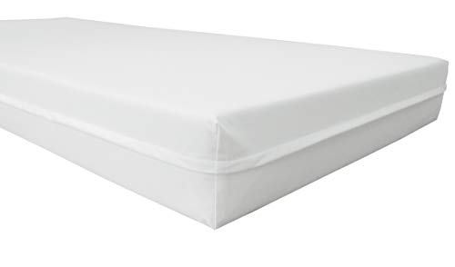 Biona Inkontinenzbezug Matratzenschutzbezug Länge 200 cm weiß div. Größen (90x200x18 cm)