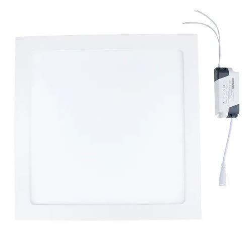 Kit 2 Painel Plafon Led 25w Quadrado Sobrepor Branco Frio Iluminação Decoração