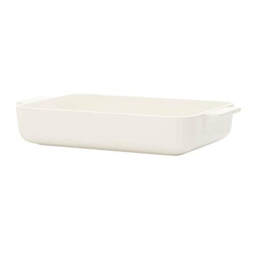 Villeroy & Boch Clever Cooking Rechteckige Backform, 11.75 zoll, Premium Porzellan, Weiß