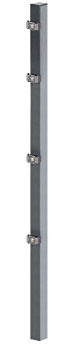 GAH-Alberts 677718 Zaunpfosten mit Klemmlaschenbefestigung, anthrazit, 60 x 40 mm, Länge: 1750