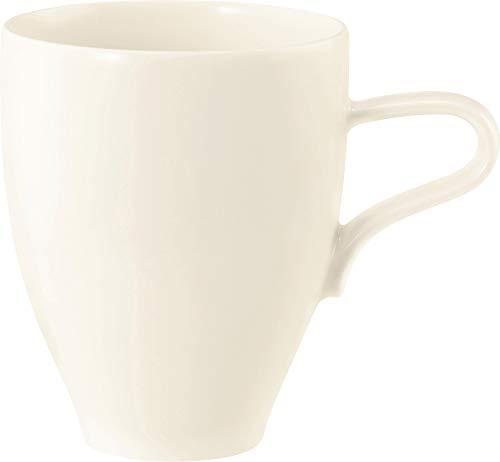 Seltmann Weiden - Medina - Becher/Kaffeebecher/Henkelbecher - Pozellan - Creme -(L/D x H x B) 12 x 10 x 9 cm - Volumen: 350ml