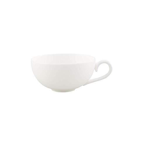 Villeroy & Boch Royal Teetasse, filigrane Tasse mit geschwungenem Henkel aus hochwertigem Premium Bone Porzellan, spülmaschinenfest, 230 ml