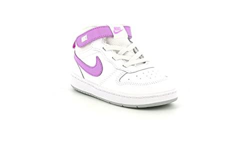 Nike CD7784 103 Court Borough Mid 2 Scarpa da Basket Bambina Bianca Rosa WHITEFUCHSIA Glow 25 EU