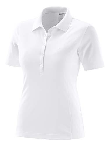 Joy Sportswear Bianka Damen-Poloshirt für Sport und Freizeit, Sportives Kurzarm-Shirt aus weicher Baumwollmischung mit klassischem Polokragen 42, White
