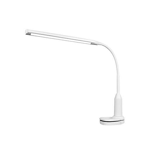 PINBinyee - Lámpara LED de escritorio con pinza de protección ocular (regulable, con sensor táctil, incluye cable USB)