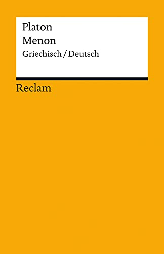 Menon: Griechisch/Deutsch (Reclams Universal-Bibliothek)