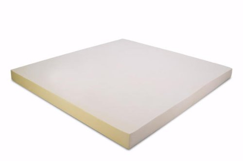 Expanda Mattress Pad Cover, Classic Contour Pillow and Queen Size 3 Inch Thick 3 Pound Density Visco Elastic Memory Foam Mattress Bed Topper Made in The USA