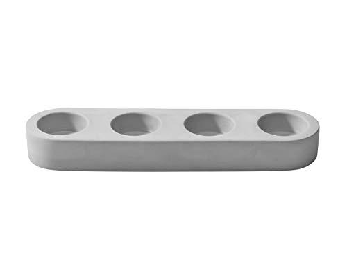 Korridor Design Moxon - Portavelas, diseño de hormigón, color gris Disponible en uno, dos, tres y cuatro tamaños de portavelas, Four