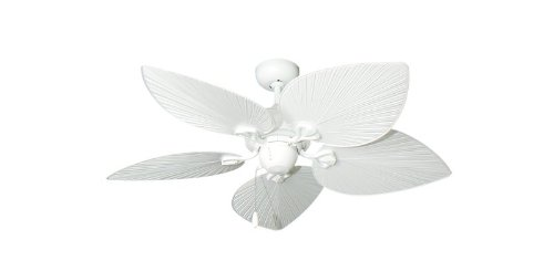 "42"" Bombay Tropical Ceiling Fan in Pure White"