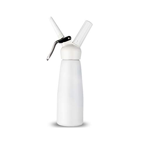 DSFHKUYB Nata montada Profesional - Sifón de Nata montada Plus 3 boquillas para decoración - Produce Nata, Helado y Mucho más - Utiliza Cartuchos estándar N20 (no incluidos),Blanco,250ml