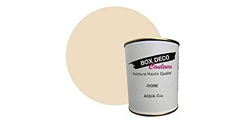 Peinture acrylique aspect velours Aqua déco - Murale - 44 couleurs - 0,7 L - 7,5 m² (Beige Ivoire)