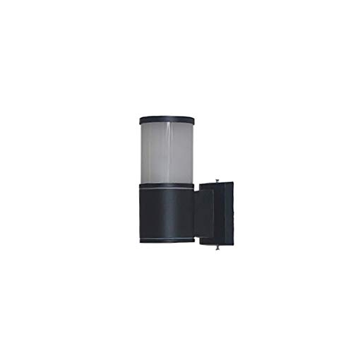 YLCJ wandlamp, buitenverlichting, LED, wandlamp, dubbele kop, wandlamp, tuin, wandlamp, tuin, terras, waterdicht, verlichting (kleur: zwart, groen: B (dubbele kop))