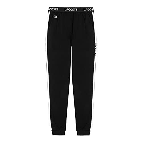 Lacoste Herren 3H9954 Pyjamahose, Männer Pyjama-Unterteil,Schlafanzughose,Jogginghose,Sweatpants,Loungewear,Schwarz,M