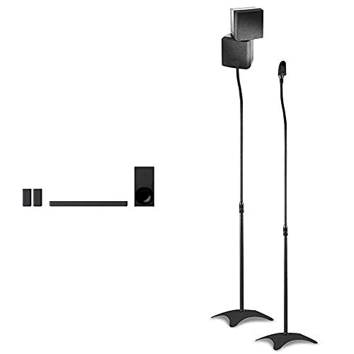 Sony Ht-S20R – Soundbar Tv A 5.1 Canali, Dolby Surround, Con Subwoofer Cablato & Supporti Staffe Aste Piedistallo Da Pavimento Per Casse Acustiche Diffusori Acustici Surround Home Theatre
