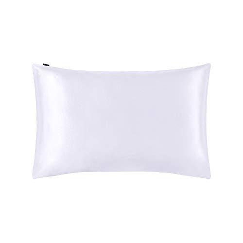 LilySilk Seide Kopfkissenbezug Kissenbezug mit Hotelverschluss Kissenhülle aus 100% Maulbeerseide Kissen 1 Stück 19 Momme in Schachtelverpackung Weiß 40x80cm Verpackung MEHRWEG