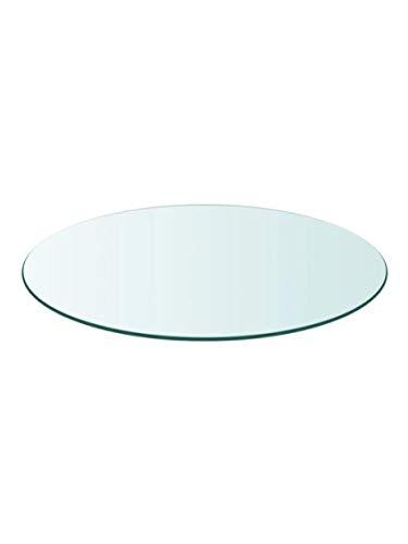 Tapa de Cristal para Mesa Redonda en Varias Medidas con Forma Circular Vidrio (Redondo 60 cm)