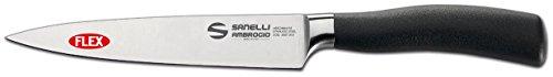 Sanelli Ambrogio Master Couteau à Filetage Flexible 15 cm, Acier Inoxydable, Noir, 39 x 7.5 x 3 cm