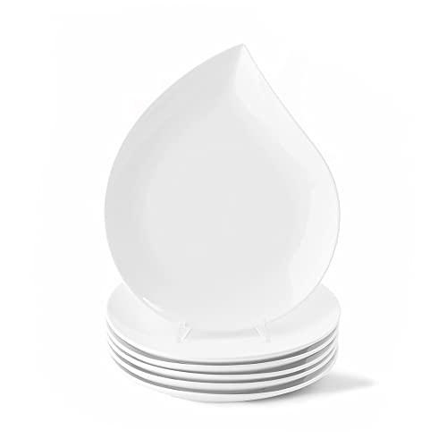 Holst Porzellan TT 027 Teardrops - Juego de 6 platos de desayuno (porcelana, 27 cm, 6 unidades), diseño de gotas