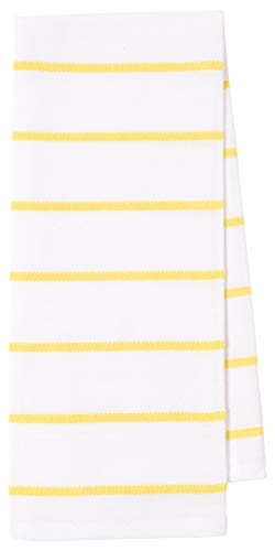 KAF Home Pantry Lemons All Over Kitchen Dish Towel Set of 4, 100-Percent Cotton, 18 x 28-inch
