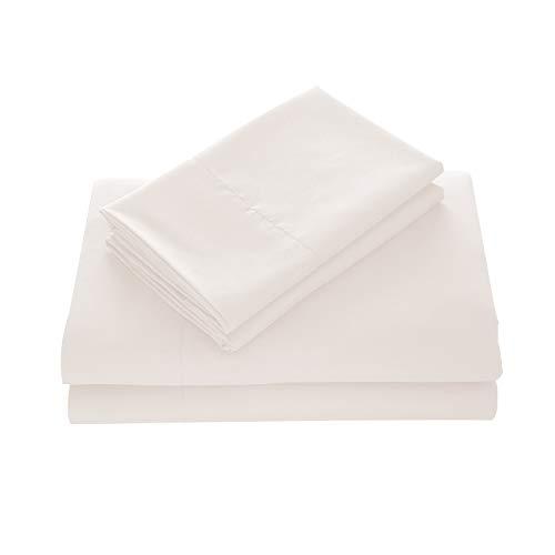 WAVVA Bedding Luxury 4-Pcs Bed Sheets Set- 1800 Deep Pocket, Wrinkle & Fade Resistant (Full, Cream)