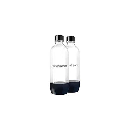Sodastream 2 BOUTEILLES 1L CLASSIQUE LAVE VAISSELLE, Plastique, Transparent