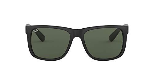 Ray-Ban Justin RB4165 - Gafas de sol Unisex, Negro (Green Classic 601/71), 55 mm